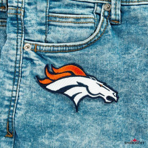 Denver Broncos front pocket jeans patch