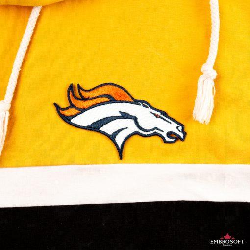 Denver Broncos jacket with a hood top