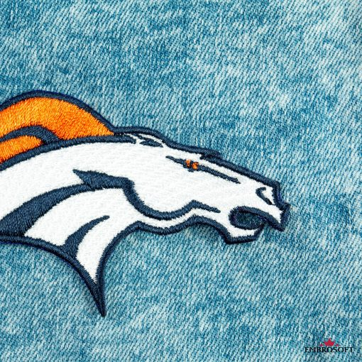 Denver Broncos jeans small patch