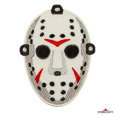 Embroidered Jason hockey friday the th mask patch