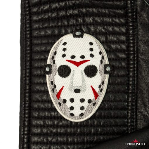 Friday the th movie Jason mask leather jacket sleeve