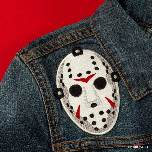 Hockey mask friday the th embroidered patch