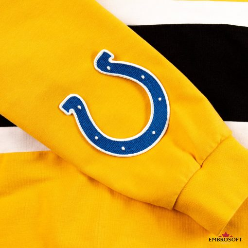 Indianapolis Colts yellow hoodie with football emblem
