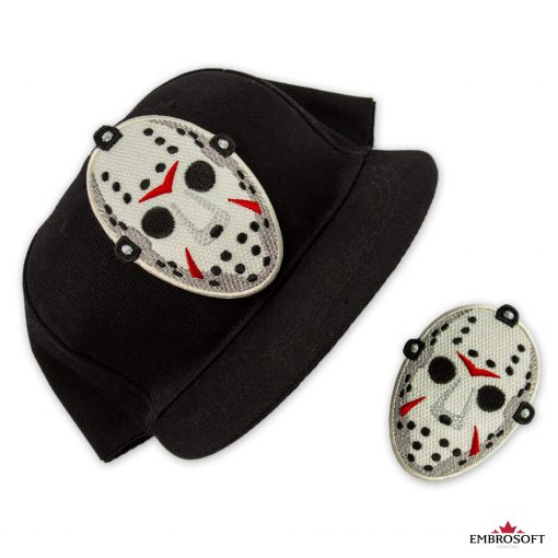 Jason Voorhees mask embroidered patch for clothes