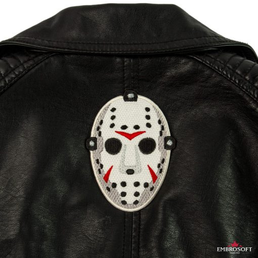 Jason friday the th mask patch jacket back
