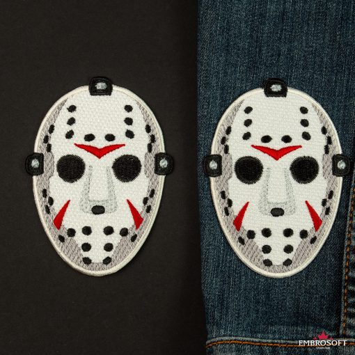 Jason mask friday the th for jeans jacket