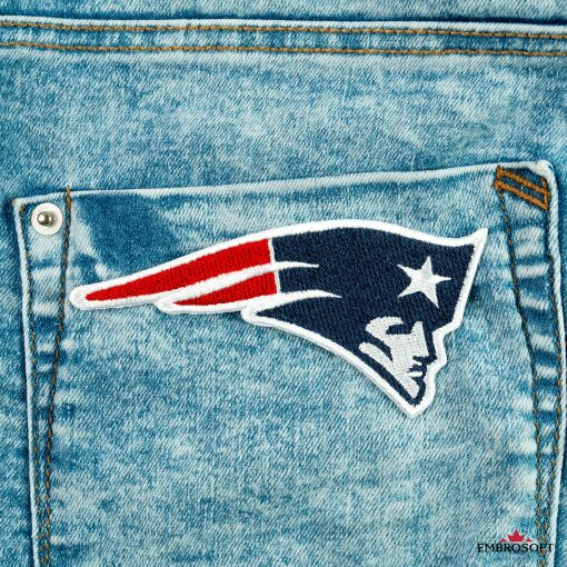 New England Patriots back pocket jeans patch