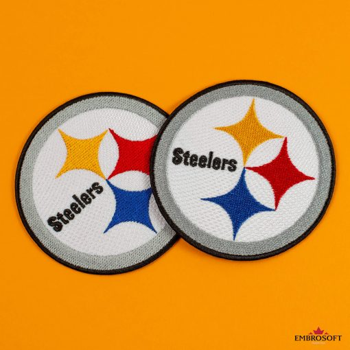 Pittsburgh Steelers two logos with yellow background