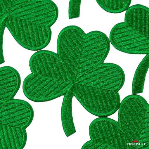 Saint patrick's day emblem embroidered clover patch