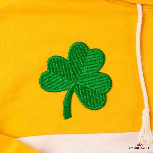 Saint patrick day green clover irish logo embroidered patch