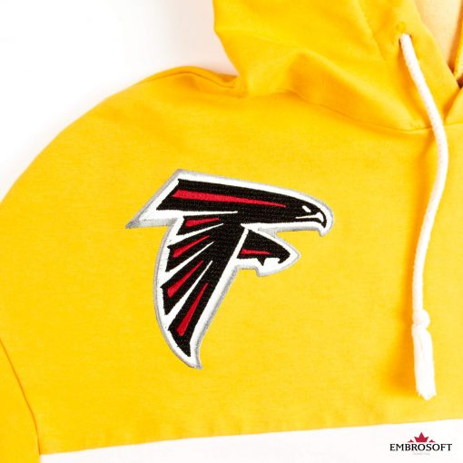 The Atlanta Falcons red and black logo for clothes