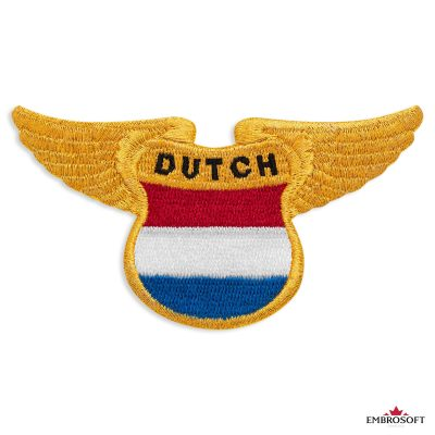 The Dutch flag patch with wings