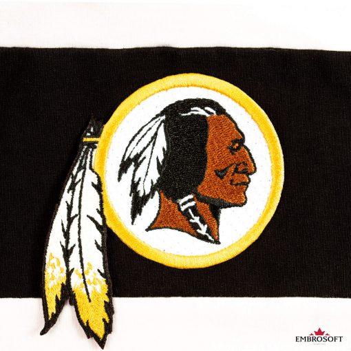 Washington Redskins black line patch
