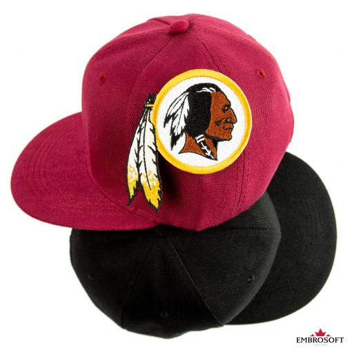 Washington Redskins embroidery on a cap