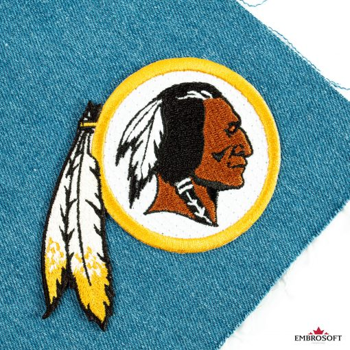 Washington Redskins jeans patch with emblem