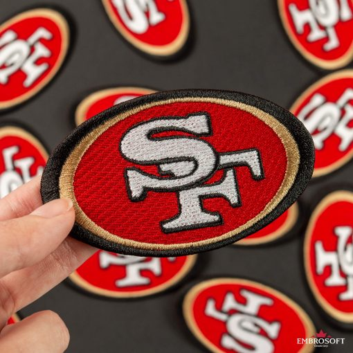 American football San Francisco team ers patch logo