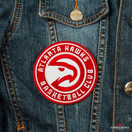 Atlanta Hawks NBA emblem for jeans jacket or sports uniform