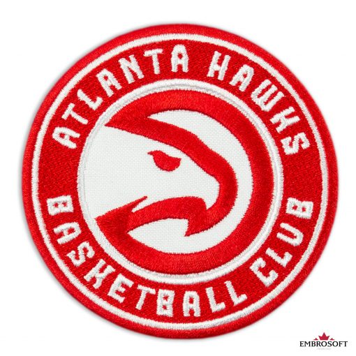 Atlanta Hawks NBA team embroidered patches frontal