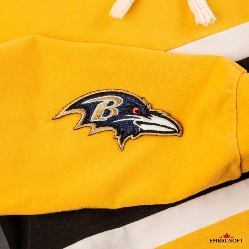 Baltimore Ravens NFL team embroidered patch yellow hoody sleeve