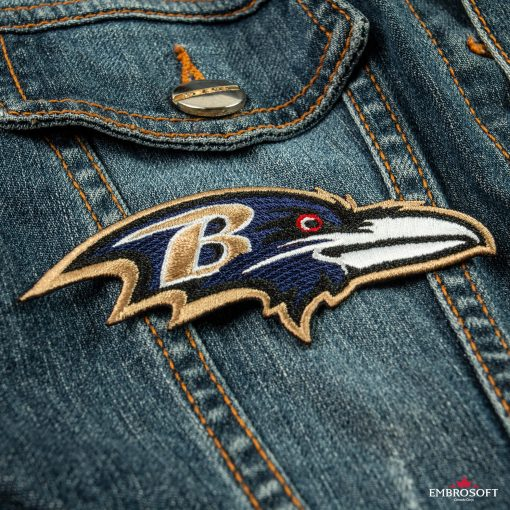 Baltimore Ravens embroidered emblem for NFL fans Jeans jackets