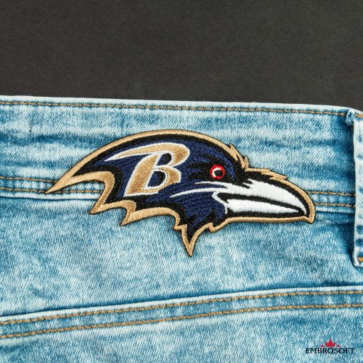 Baltimore Ravensembroidered emblem small patch on a jeans NFL