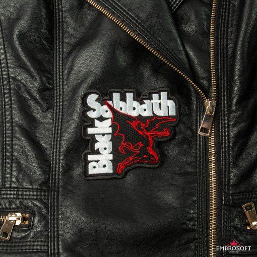 Black Sabbath embroidered rock emblem for jackets