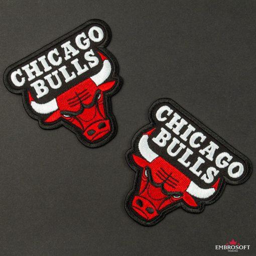 Chicago Bulls NBA team embroidered emblem black background