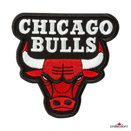 Chicago Bulls NBA team embroidered logo frontal