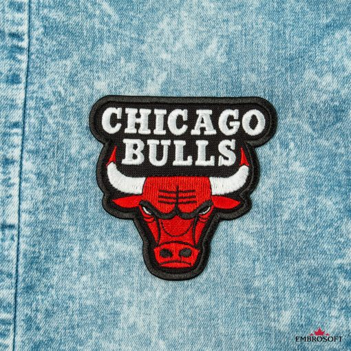 Chicago Bulls NBA team embroidered patches emblem for jeans jackets