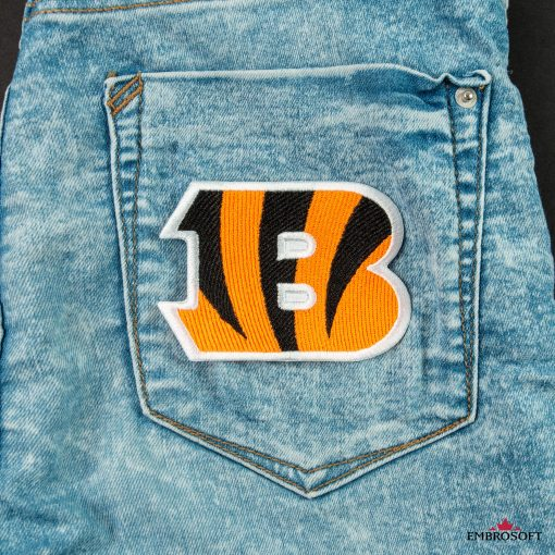 Cincinnati Bengals NFL team embroidered patches back jeans pocket
