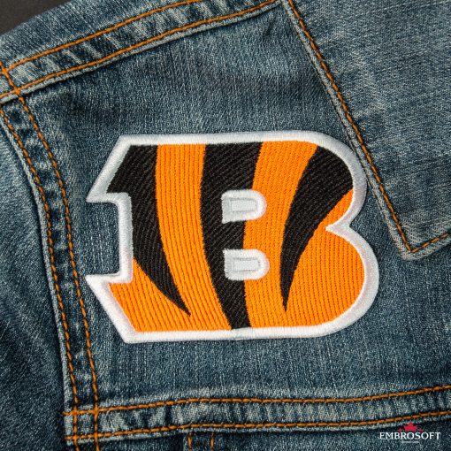 Cincinnati Bengals NFL team embroidered patches for jackets and backpacks