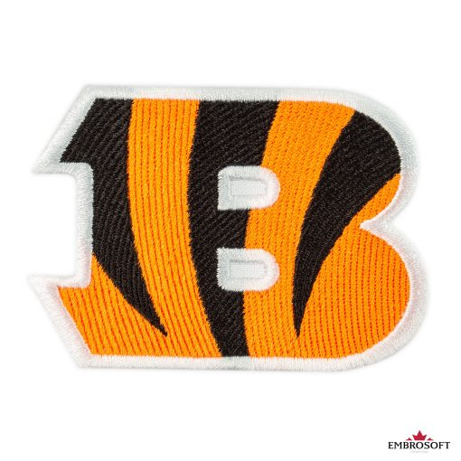 Cincinnati Bengals NFL team logo embroidered patches frontal