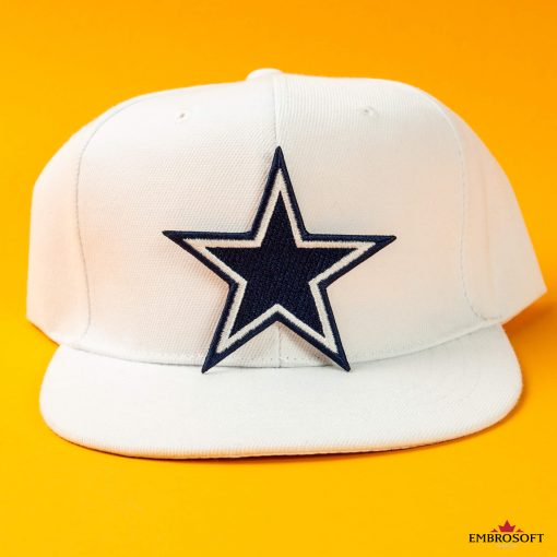 Dallas Cowboys cool emblem patch on a white cap