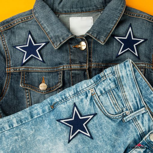 Dallas Cowboys embroidery NFL jeans and jacket patches