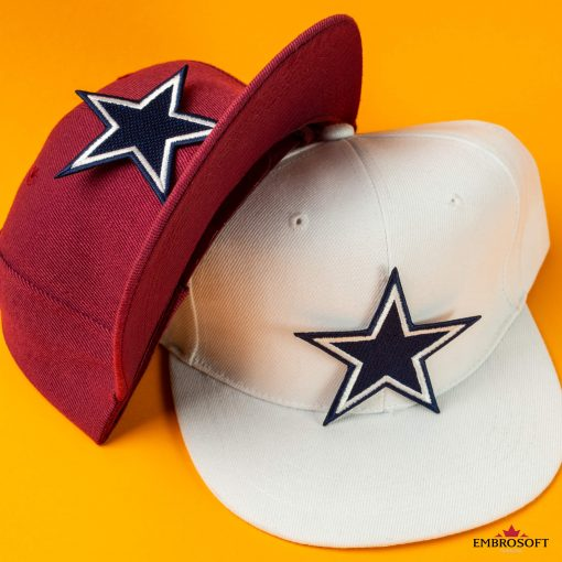 Dallas Cowboys logo patch on white and red caps