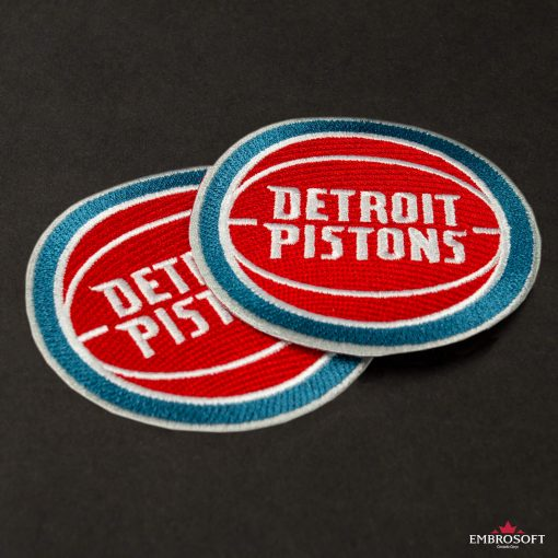 Detroit Pistons NBA embroidered emblem for clothes