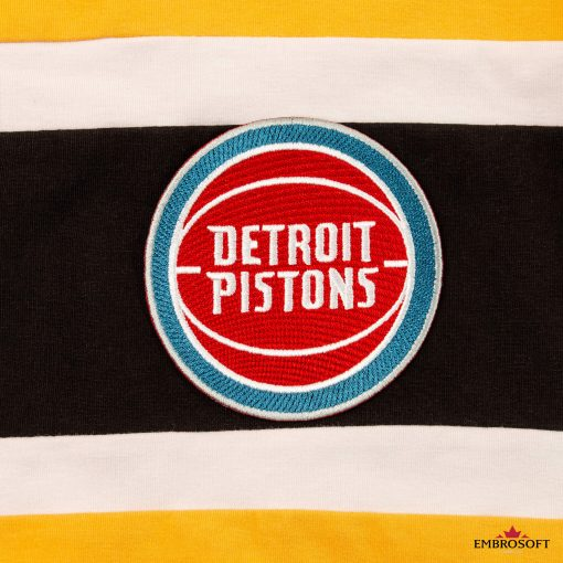Detroit Pistons NBA team embroidered logo for player uniform