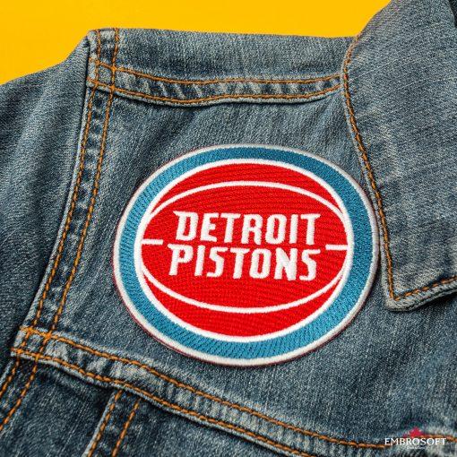 Detroit Pistons embroidered basketball emblem NBA for jeans jaket