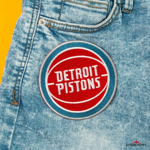 Detroit Pistons team embroidered patch NBA for backpacks