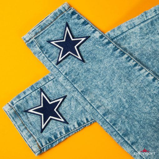 Emblem patches Dallas Cowboys NFL team for jeans