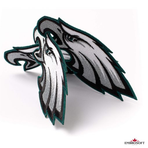 Embroidered Philadelphia Eagles logo patch for clothes Embrosoft