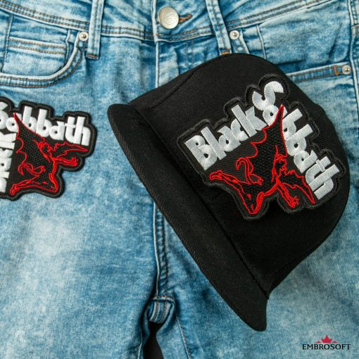 Heavy Rock band emblem Black Sabbath patch for jeans