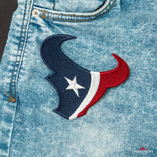 Houston Texans NFL team embroidery patches for jeans jackets