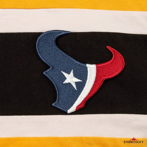 Houston Texans NFL team logo embroidered patch yellow hoody
