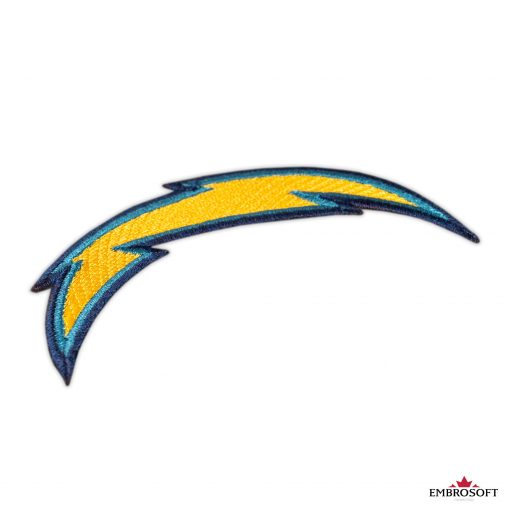 LA Chargers embroidered patches for backpacks and jackets sleeve