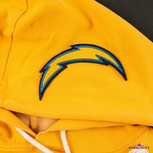 Los Angeles Chargers NFL logo patch for fans cloth yellow hoody