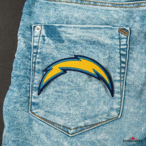 Los Angeles Chargers NFL team embroidered logo on a back pocket