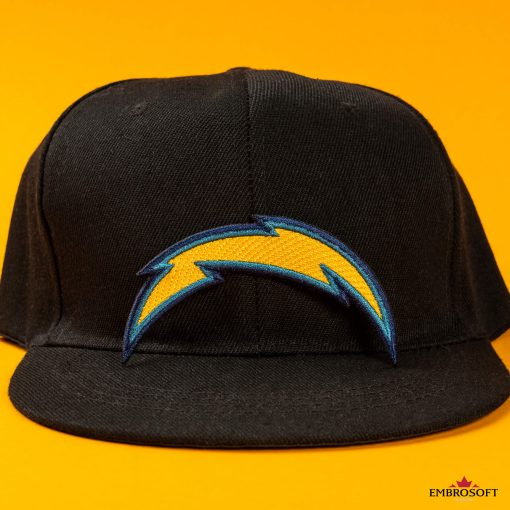 Los Angeles Chargers embroidered NFL emblem with yellow background