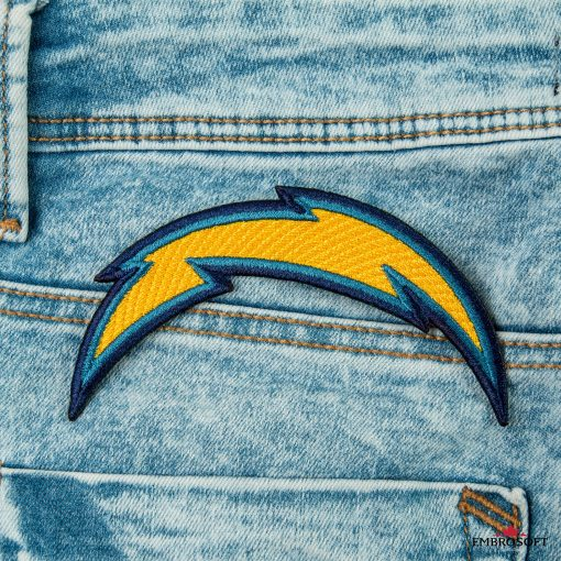 Los Angeles Chargers high quality embroidery for NFL sports fans jeans