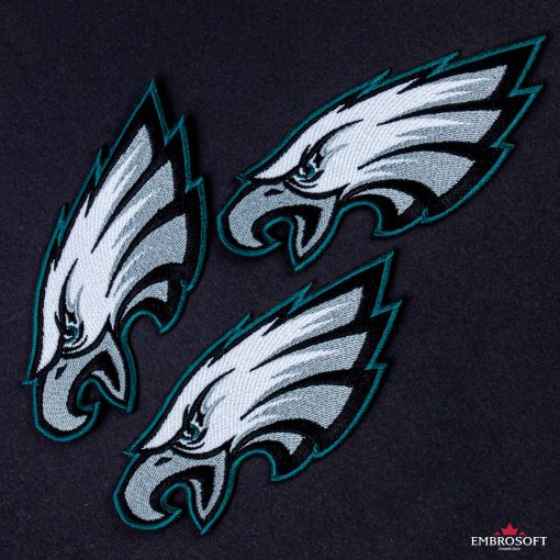 Philadelphia Eagles NFL embroidery collage black background